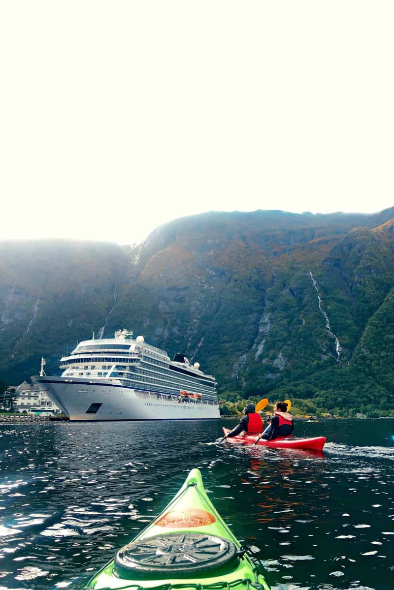Kayaking in Eidfjord, Norway