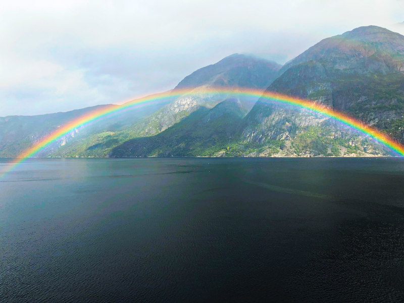 Rainbow in Eidfjord, Norway