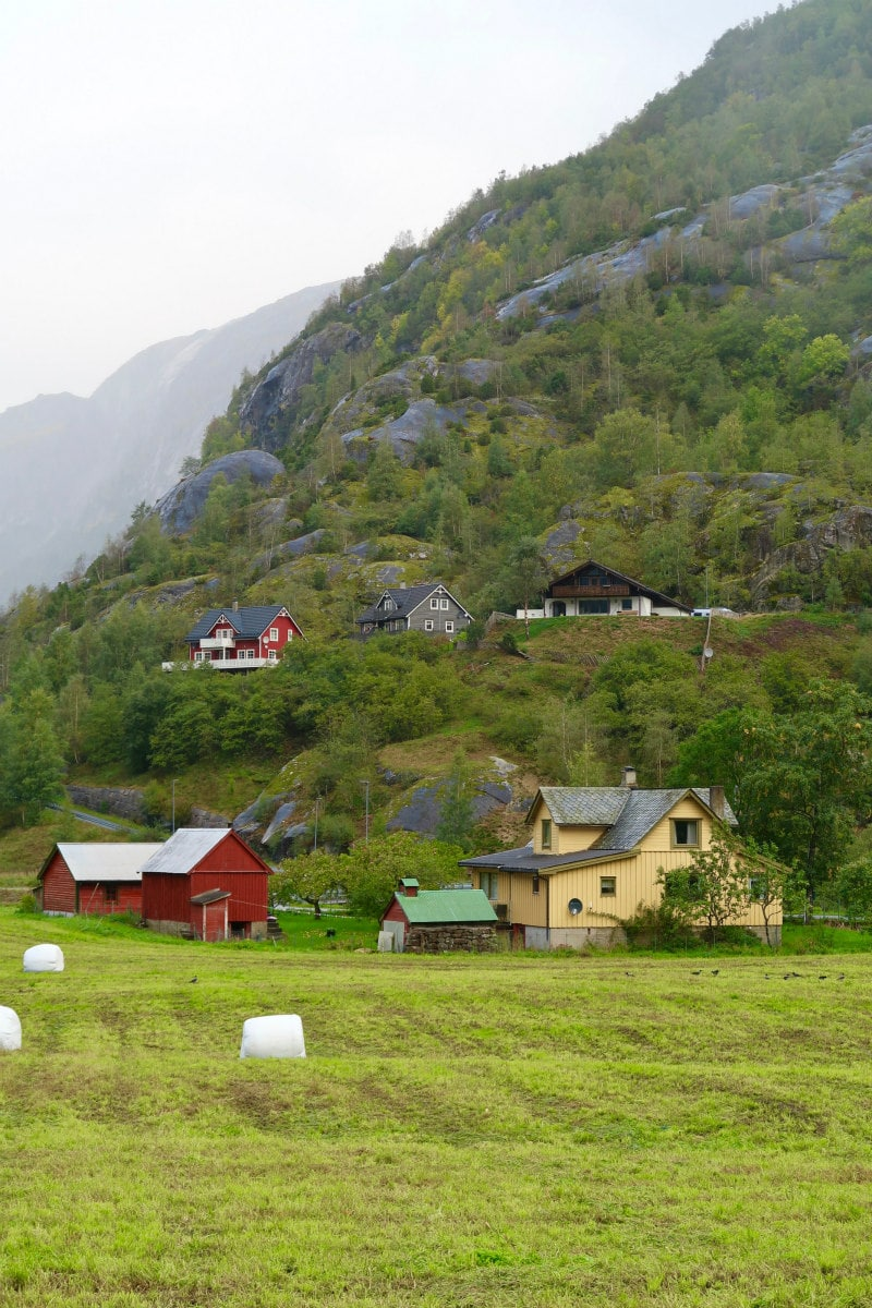Hillside in Eidfjord, Norway