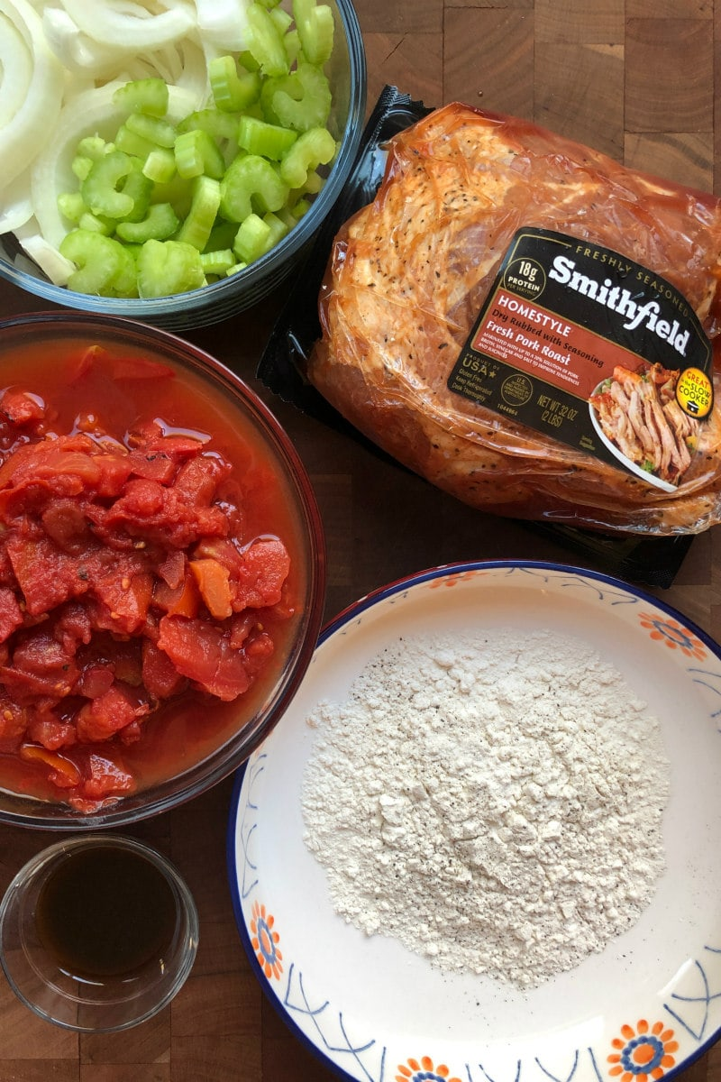 ingredients needed for Slow Cooked Swiss Pork
