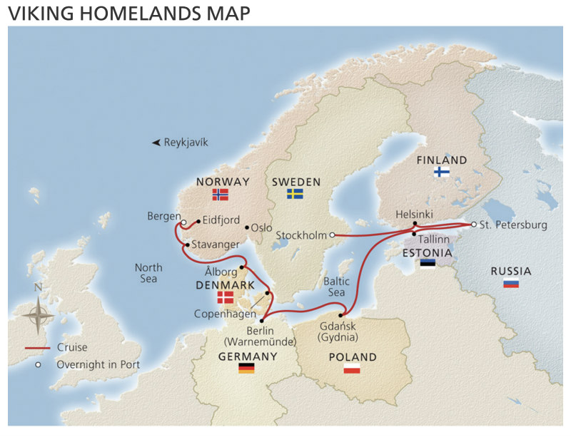 Viking Homelands Map
