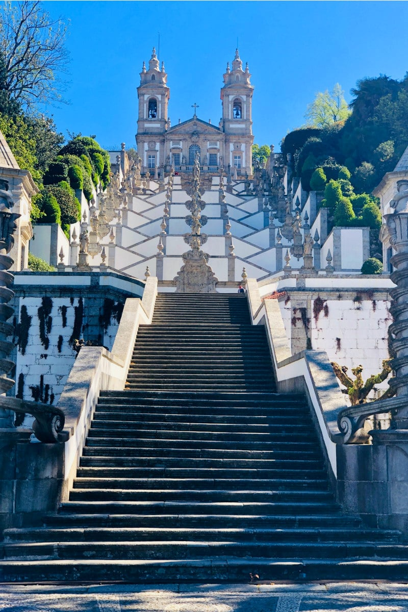 Stairs to Bom Jesus do Monte in Braga, Portugal