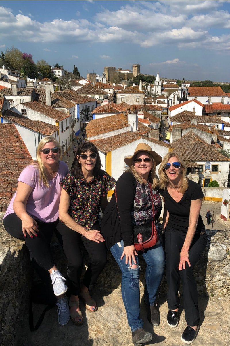 View from the top of the castle in Obidos, Portugal
