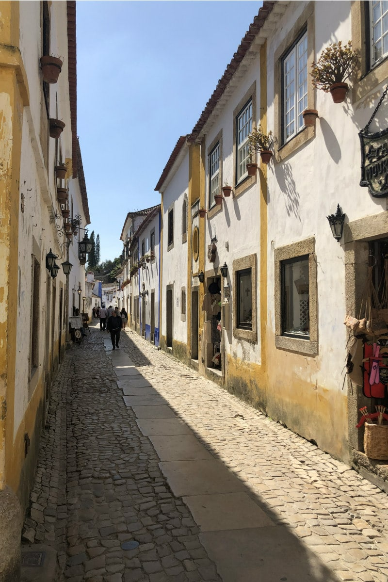 Streets of Obidos, Portugal