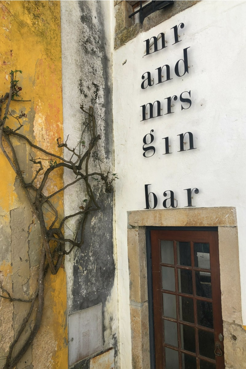 Mr and Mrs Gin Bar in Obidos, Portugal