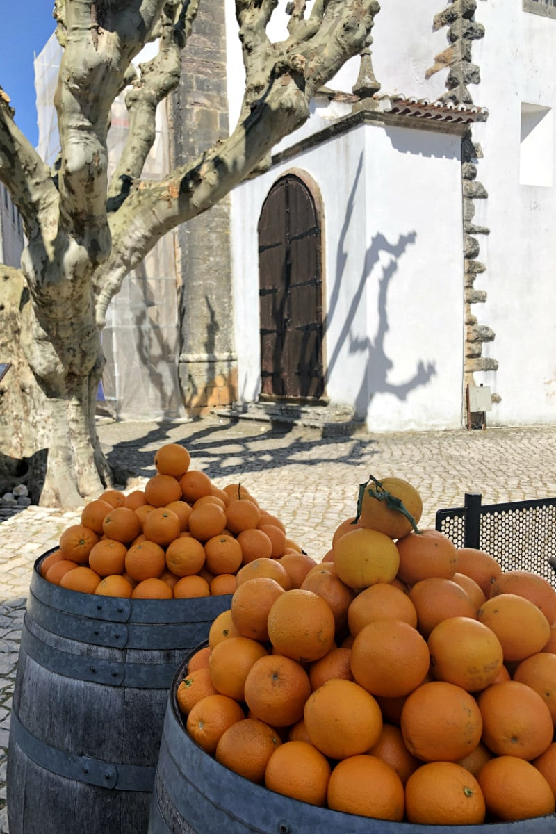 Oranges in Obidos, Portugal