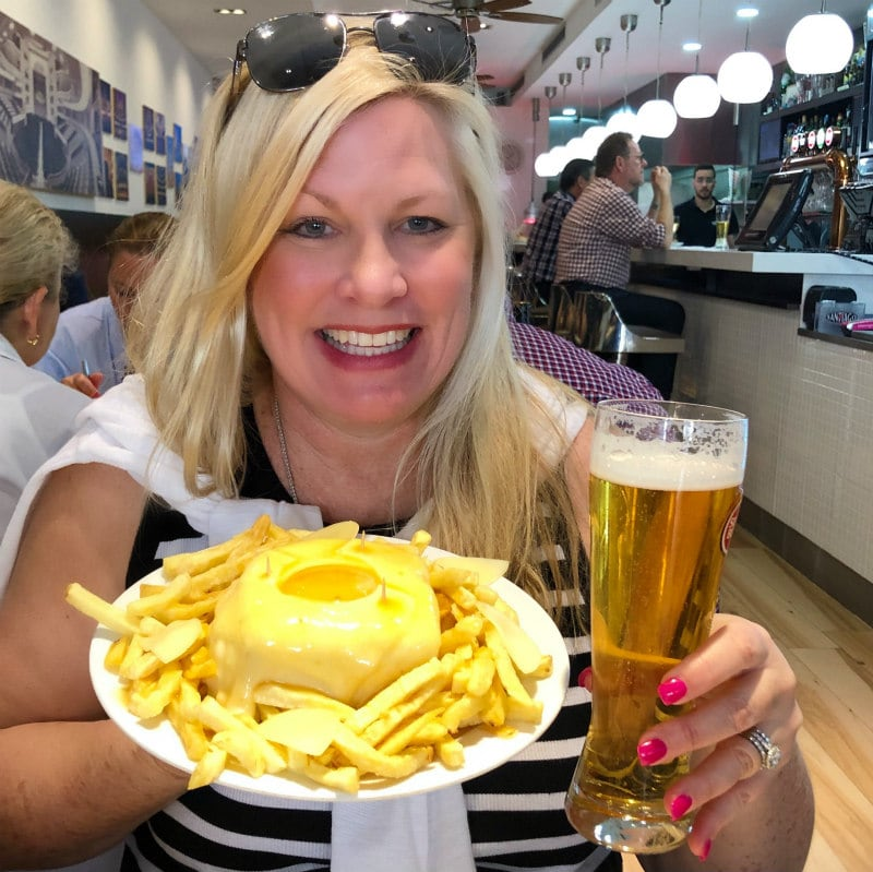 Francesinha and Beer in Porto, Portugal