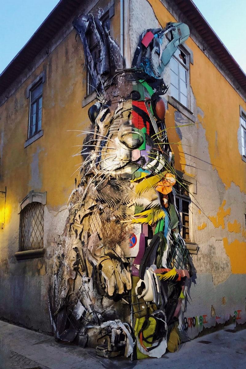 Half Rabbit art in Porto, Portugal