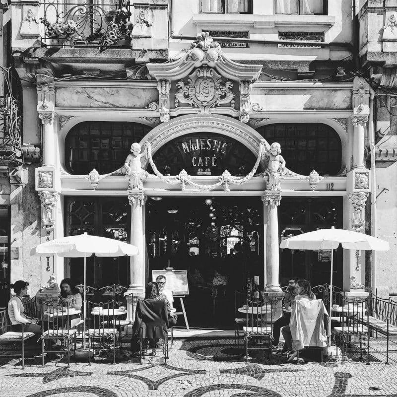 Majestic Cafe in Porto, Portugal