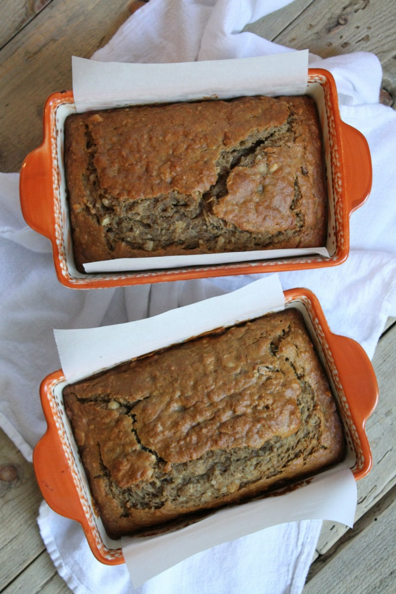 Two loaves of Coconut Banana Bread