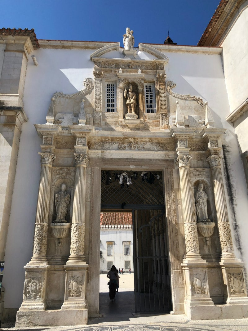 Entrance to the University of Coimbra, Portugal