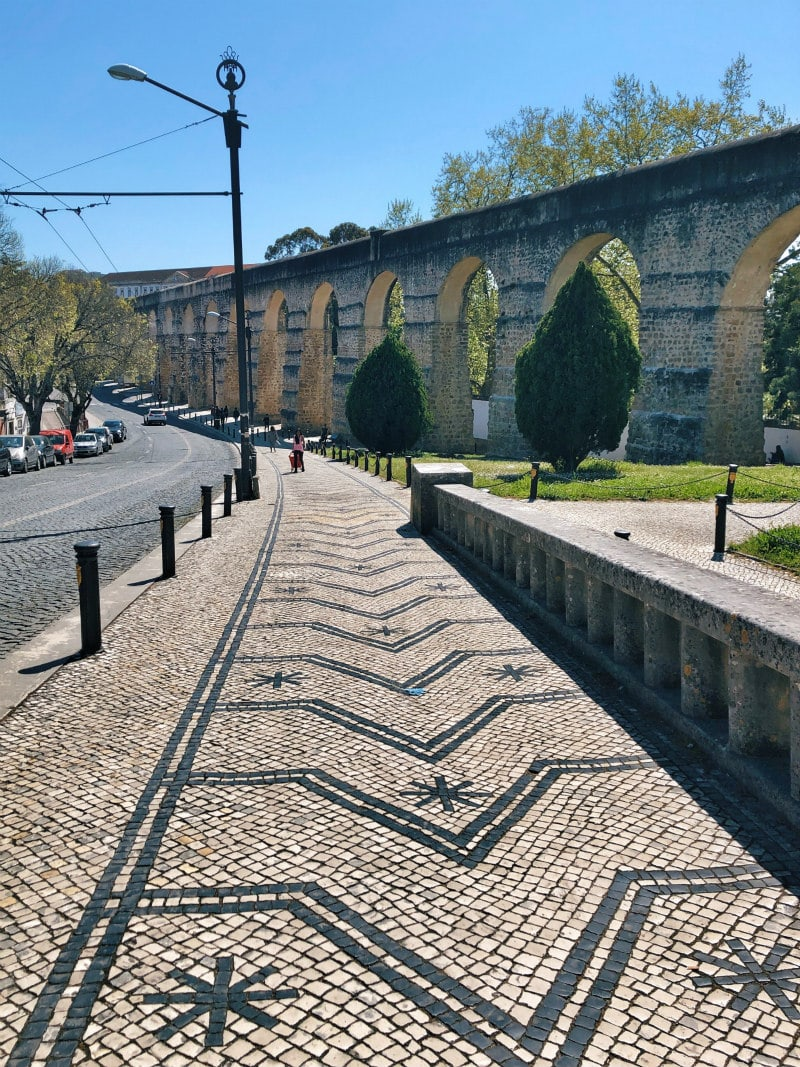 Pathway to the Botanical Gardens in Coimbra, Portugal