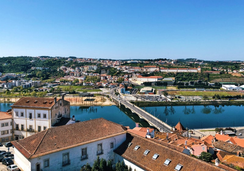 View to the river from the University of Coimbra, Portugal