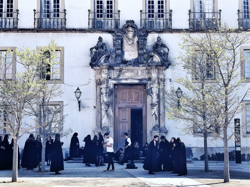 Students at the University of Coimbra, Portugal