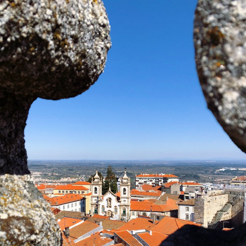 View from the top of the cathedral in Guarda, Portugal