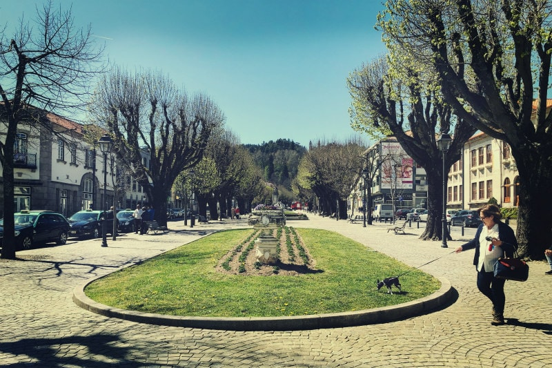 Town center: Lamego, Portugal