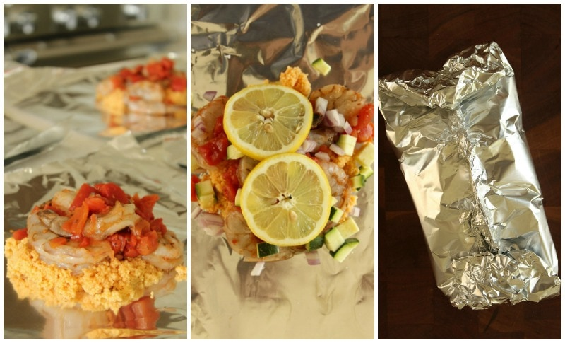 How to make Mediterranean Shrimp Foil Packets