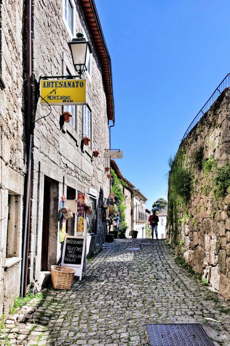 narrow roads in Monsanto, Portugal
