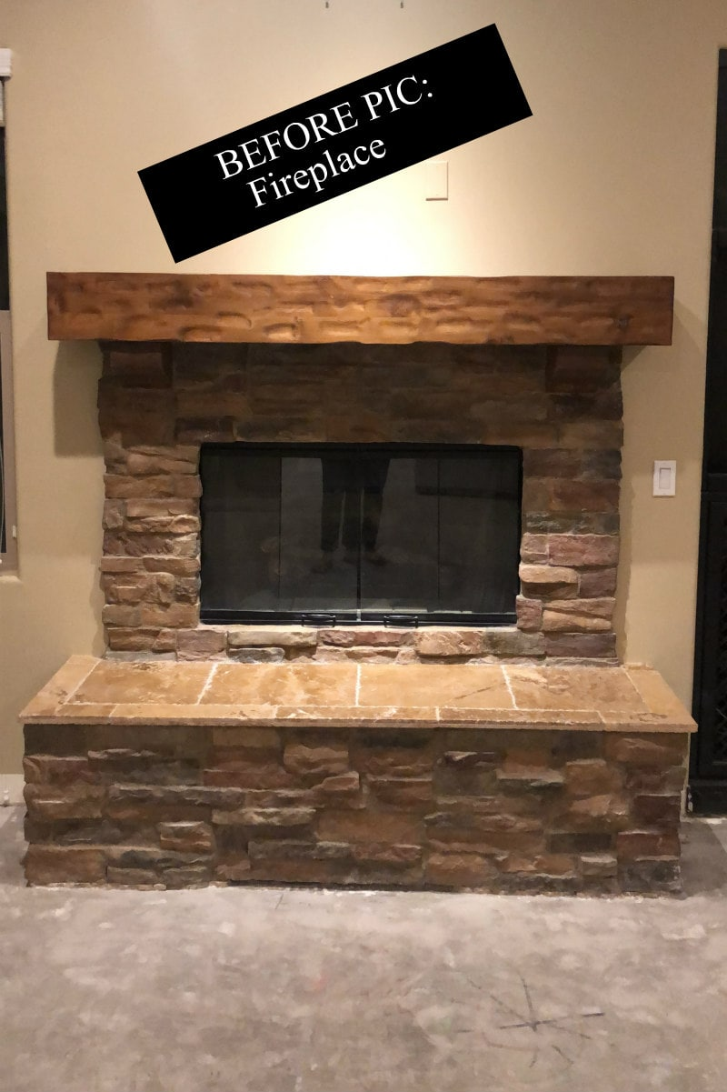 Before picture of Fireplace Remodel in Scottsdale, Arizona