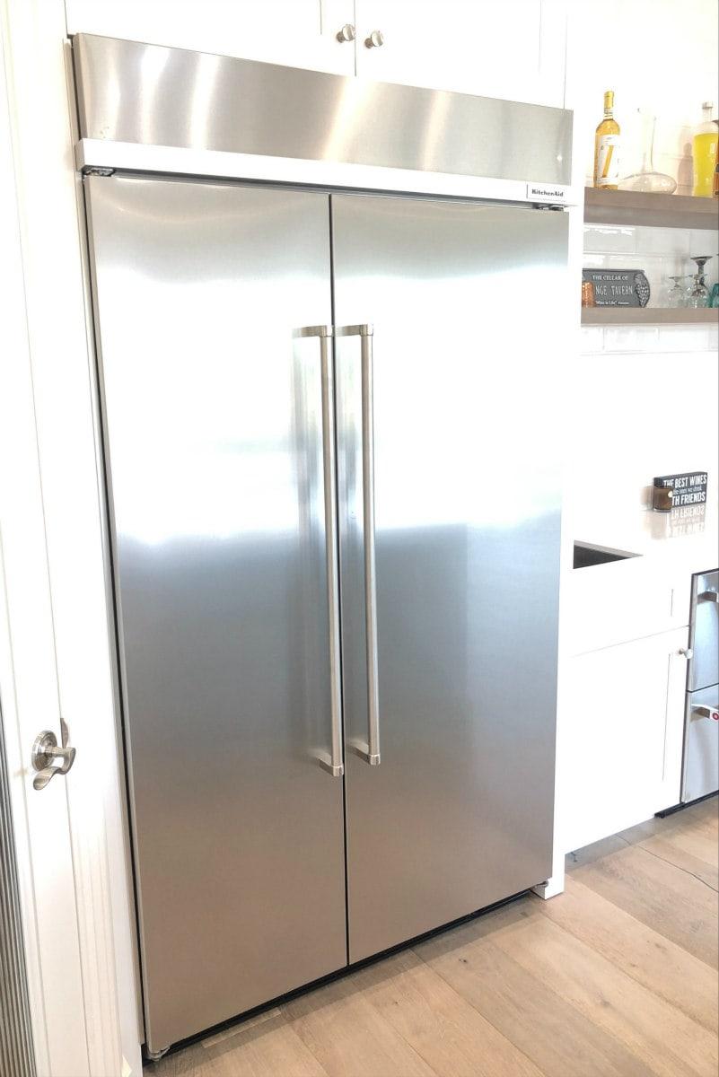 Refrigerator in Kitchen Remodel