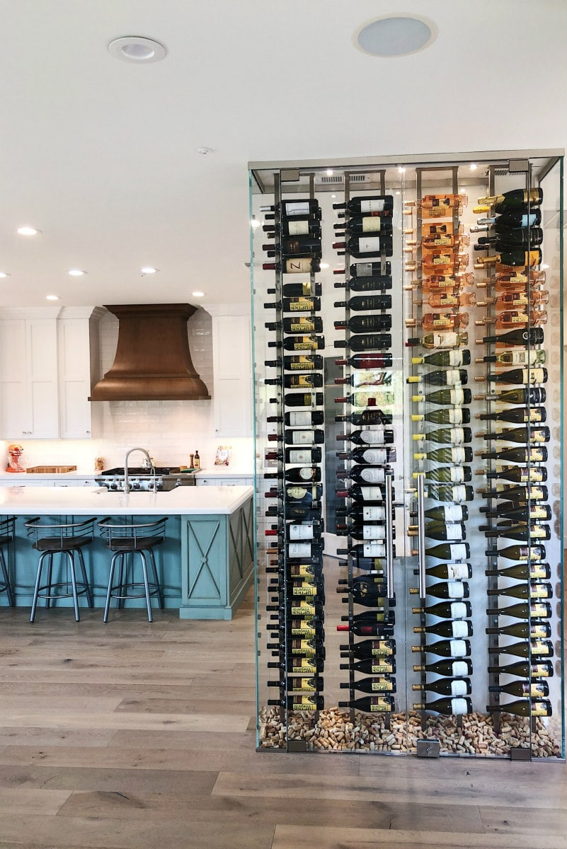 Wine Wall adjacent to the kitchen