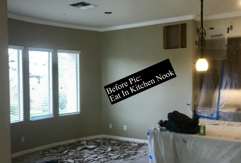 Before pic of Kitchen Nook Remodel