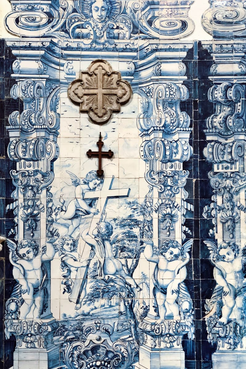church tile in Coimbra, Portugal