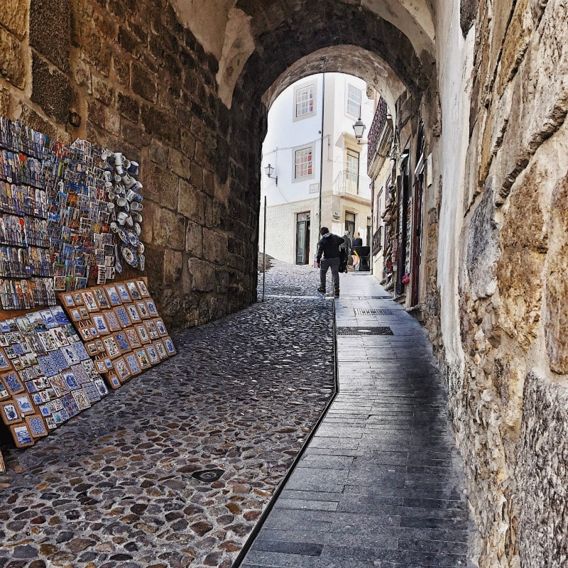 streets of Coimbra, Portugal