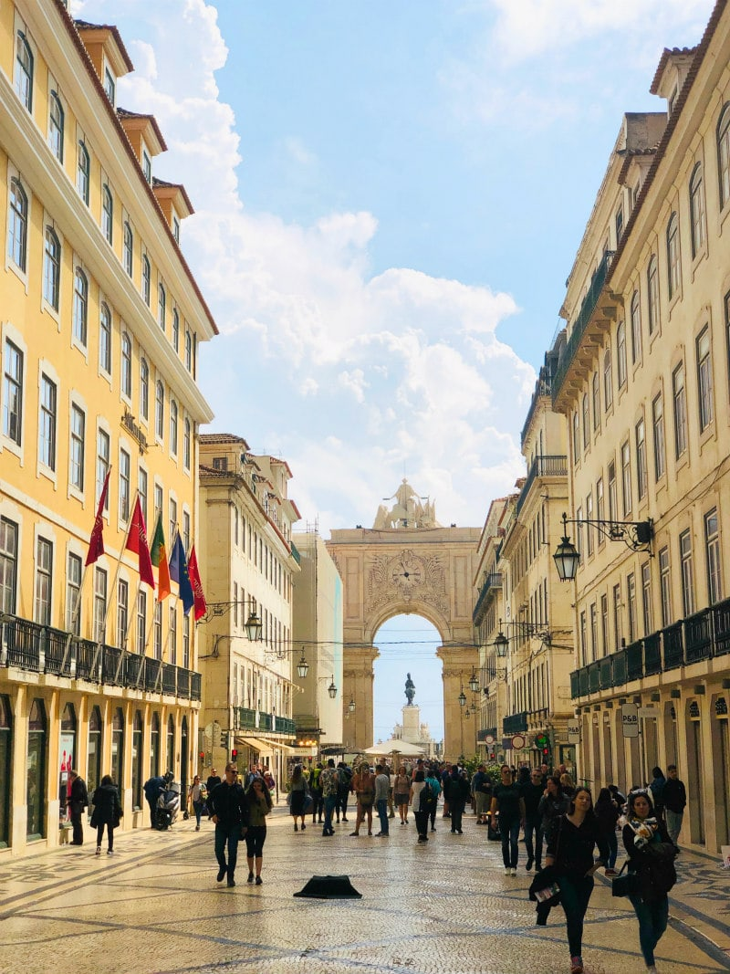 Palace Square Arch in Lisbon, Portugal