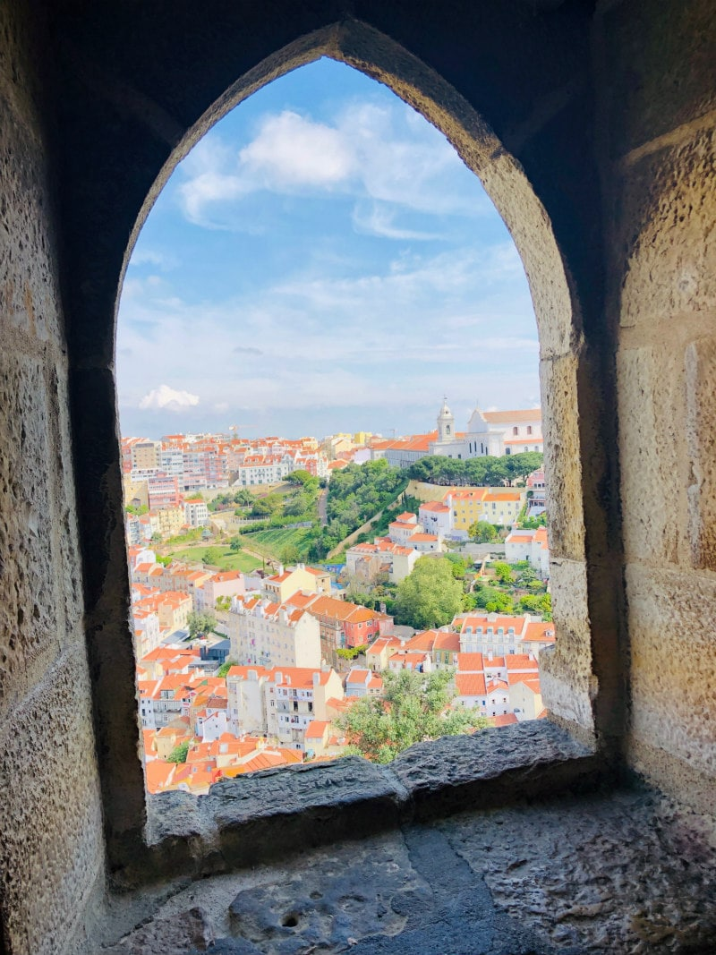 View from Sao Jorge Castle in Lisbon, Portugal