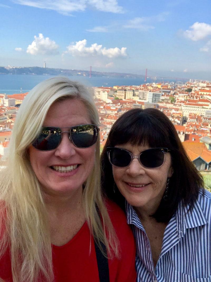 RecipeGirl Lori and Sister Susie in Lisbon, Portugal