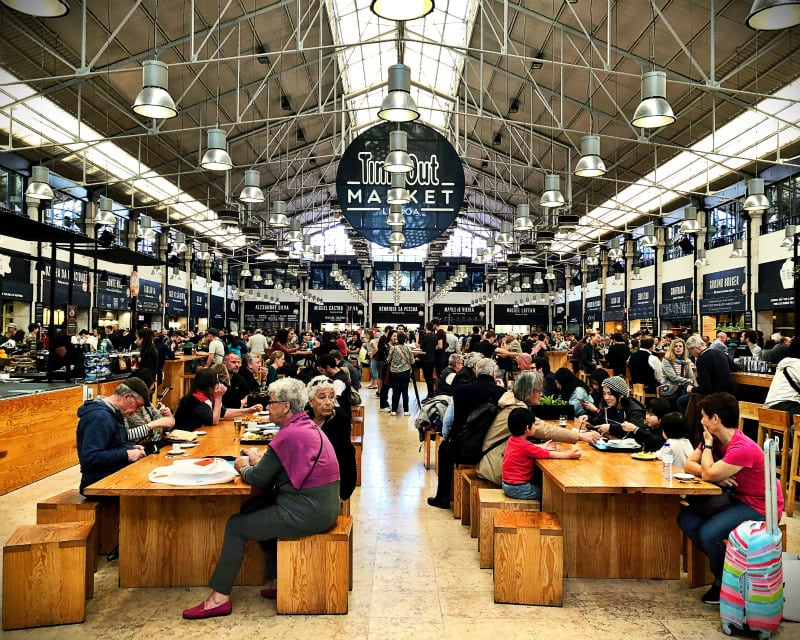 Time Out Market in Lisbon, Portugal
