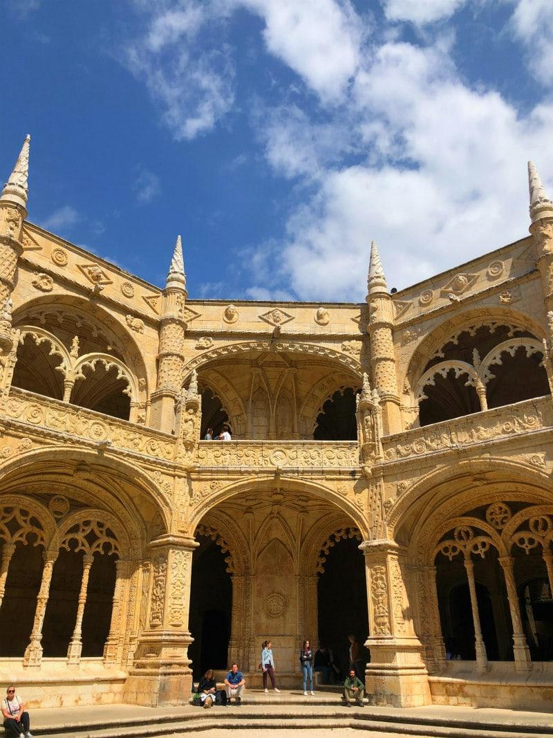 Jeronimos Monastery Cloisters in Belem, Portugal