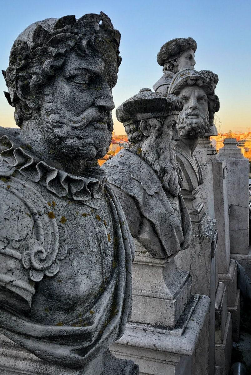 Statues in Lisbon, Portugal