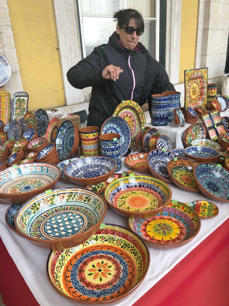 pottery for sale in Lisbon, Portugal