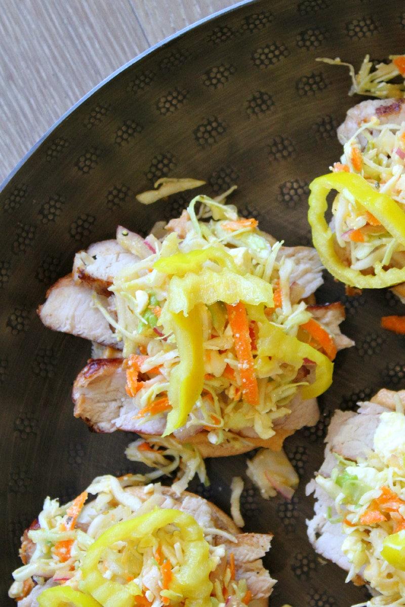 assembling Grilled Pork Sliders