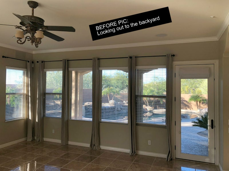 Before view to the backyard in Scottsdale Home Remodel