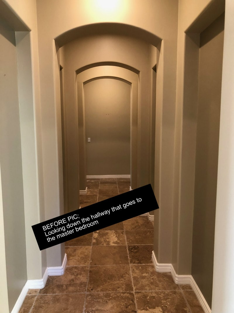 Hallway before picture of Scottsdale Home Remodel