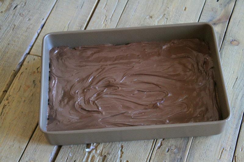Making Nutella Shortbread Bars