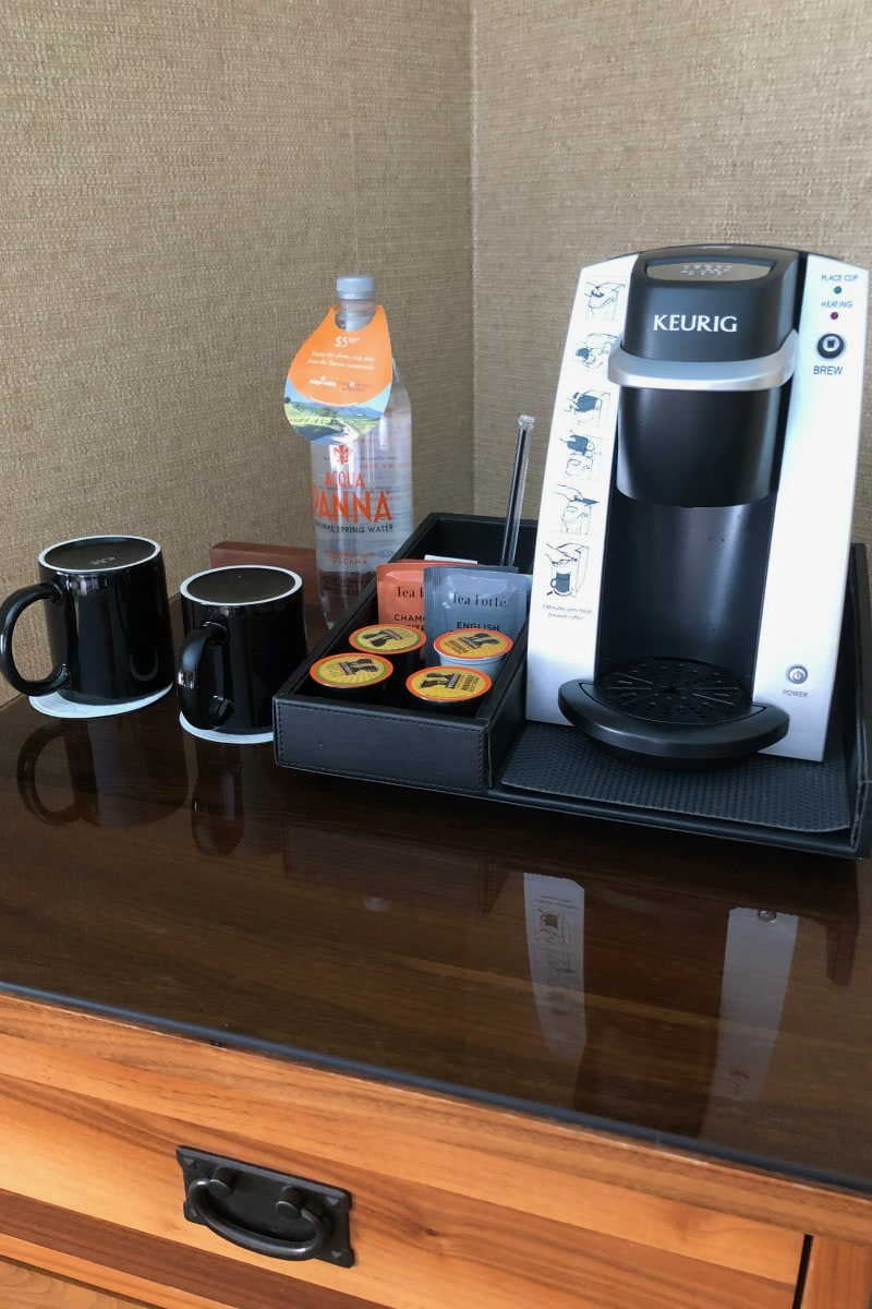 Coffee Station in Room at Omni Grove Park Inn