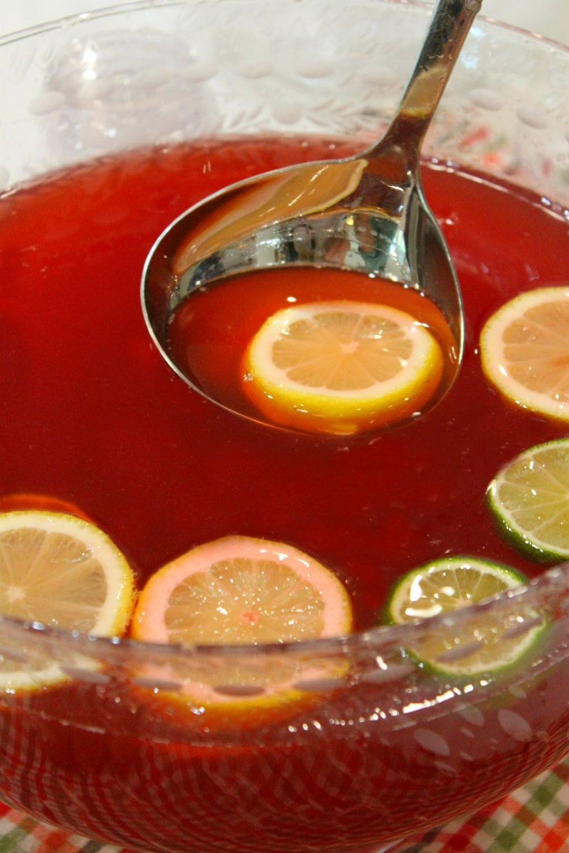 serving Pama Party Punch