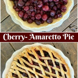 Pinterest Collage Image for Cherry Amaretto Pie