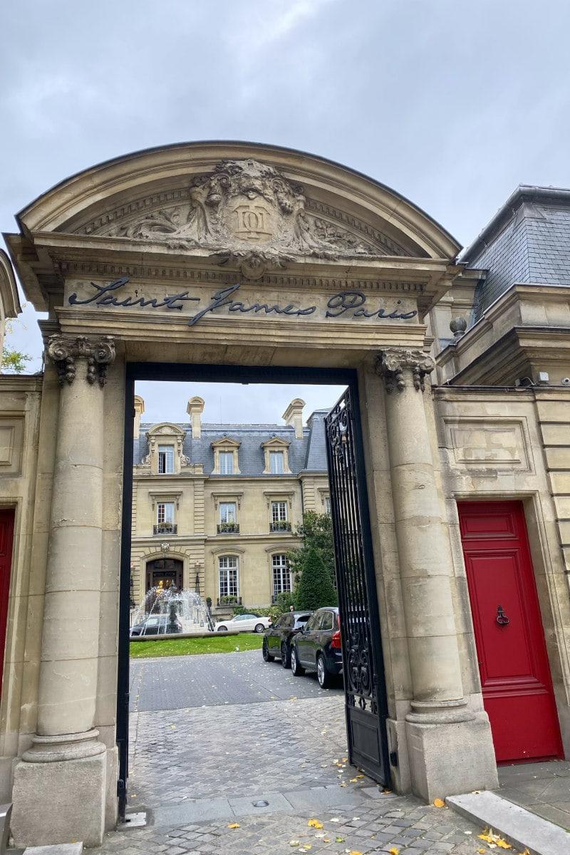 Entrance to Saint James Paris Review