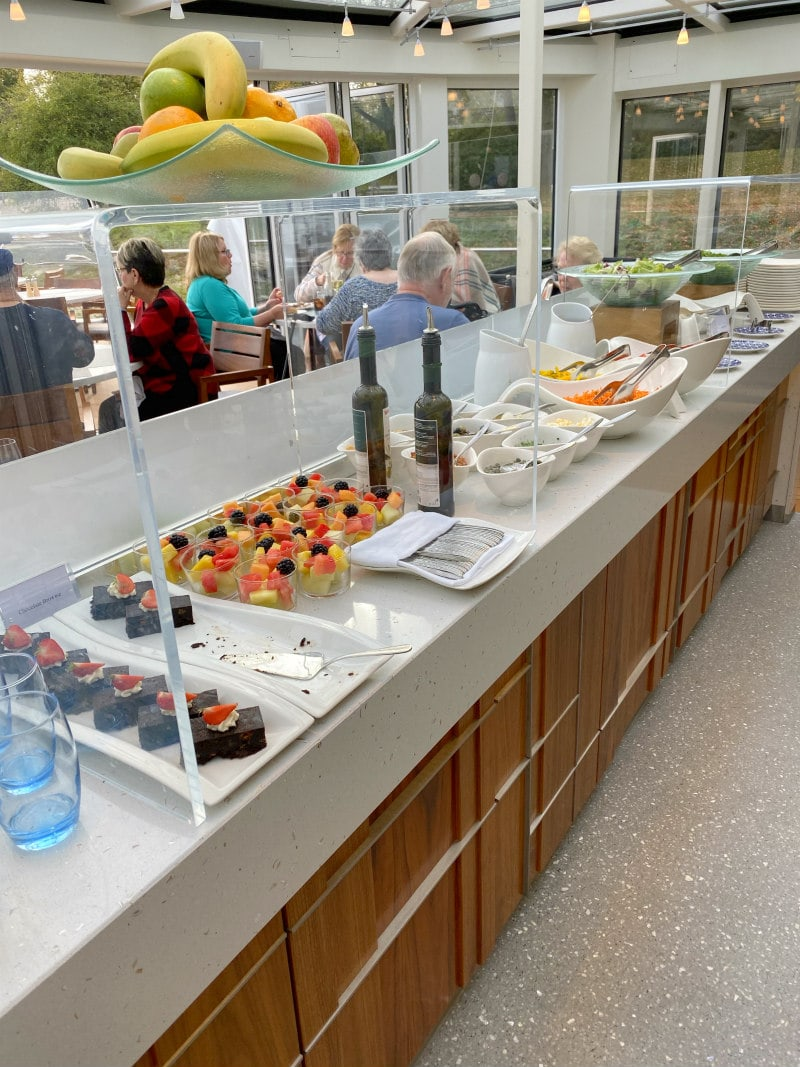 Lunch buffet on a Viking river Cruise