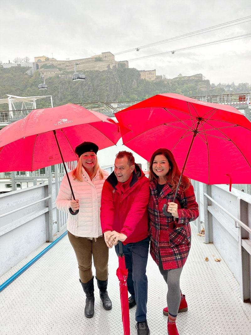 rainy day on the Viking Hild