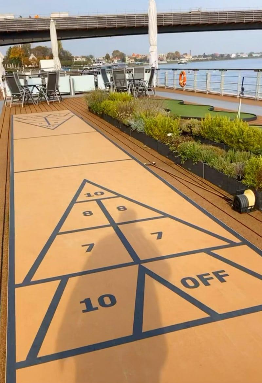 shuffleboard on viking river cruise