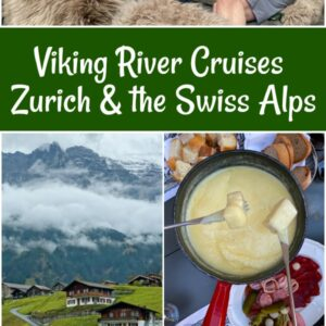 Pinterest Collage image for Viking River cruise of the Swiss Alps