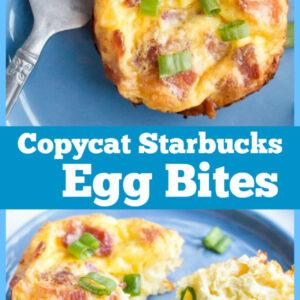 Pinterest Collage image for copycat starbucks egg bites