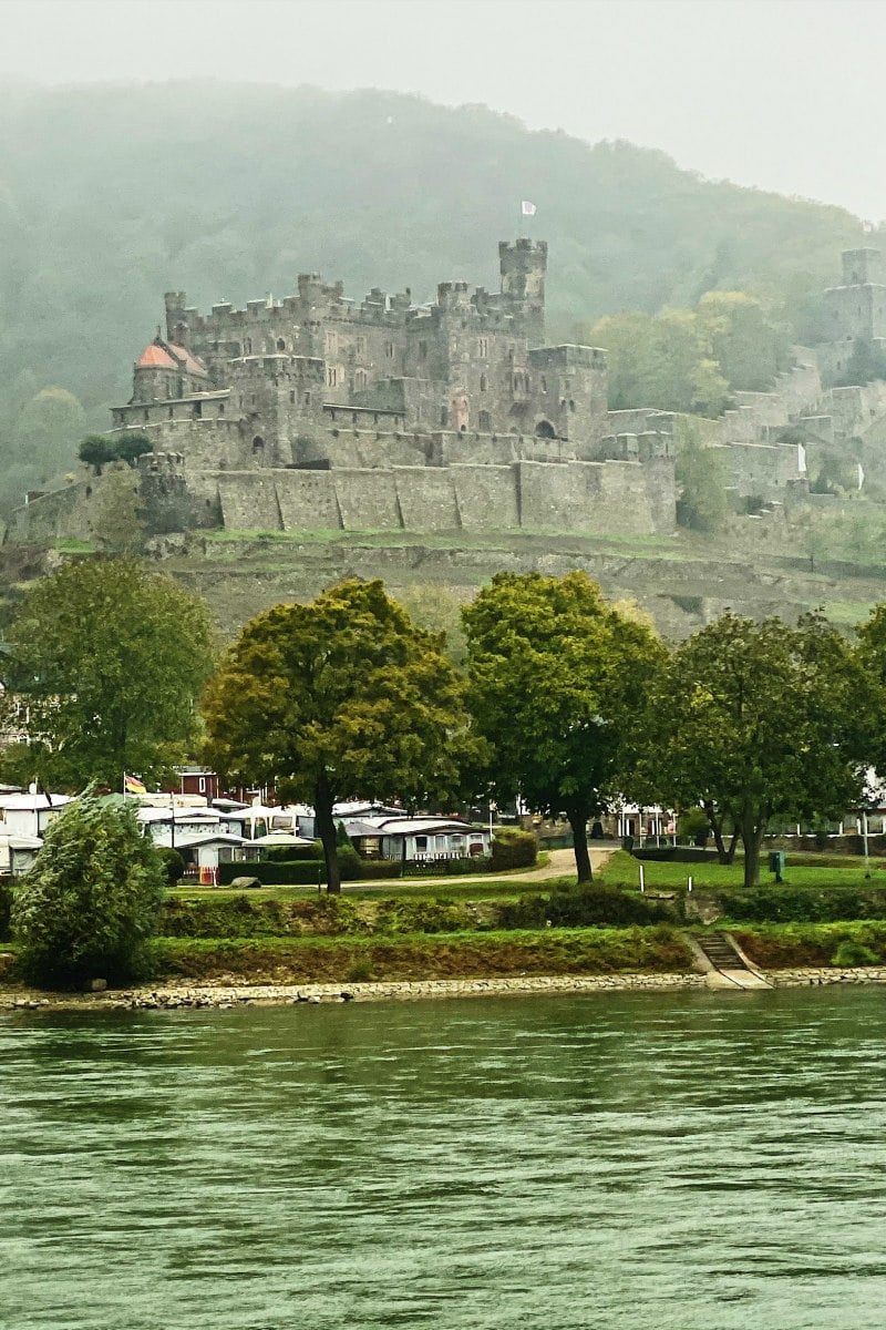 Castle on the Rhine River