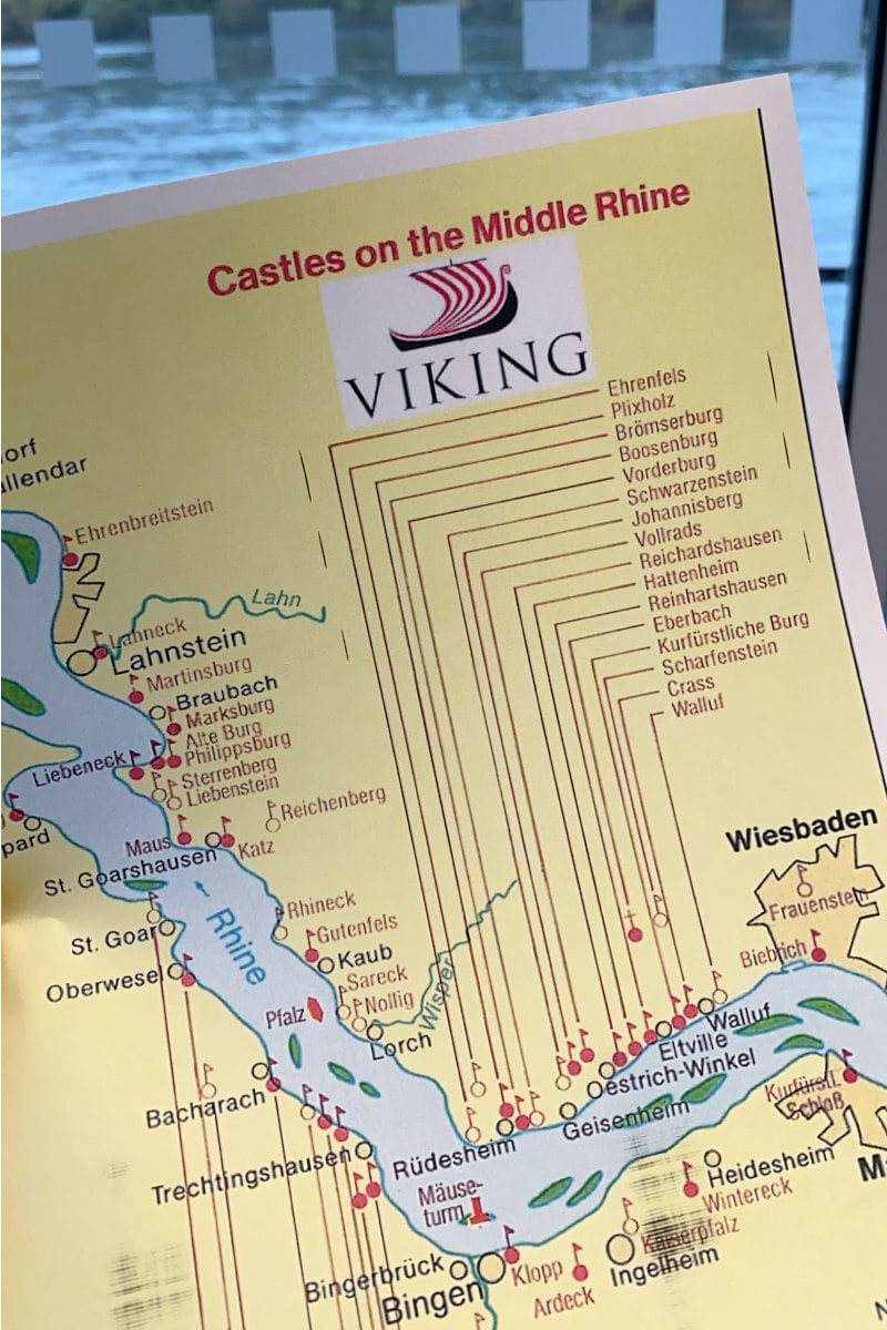 map of castles on the middle Rhine